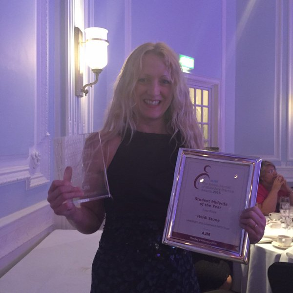 Heidi A Stone BJM Student Midwife Of The Year 2016