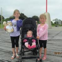 Nait Bear visits New Plymouth, Taranaki, New Zealand home of 3 special little girls