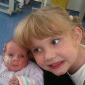 Tiana and baby sister Ayla-Millie