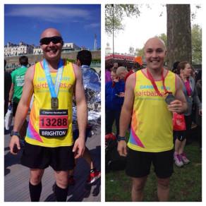 Dan with both Brighton and London marathon medals!