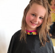 Aimee-Rose 8, raises over £800 cutting her long hair for charity!!!!