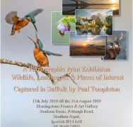 """Paul Templeton's charity summer photographic exhibition """"Visions of Suffolk"""" raises over £1,500"""