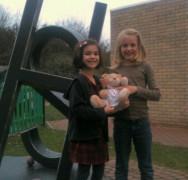 Schoolgirls Ellie and Elena read for Naitbabies