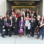 Group photo on the steps of Weill Cornell Medical Center NY