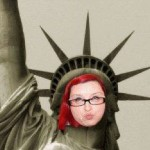 Louise as Staue of Liberty