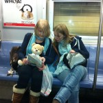 Nait, Becky and Thea on the subway 1