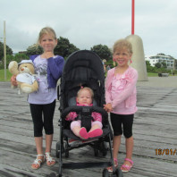 Nait Bear visits New Plymouth, Taranaki, New Zealand home of 3 special little girls
