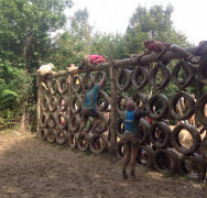Photos of our third NUT'S CHALLENGE Army assault course team – August 30th 2014