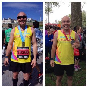 Dan with both Brighton and London marathon medals!