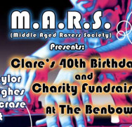 Clare's 40th birthday fundraiser with M.A.R.S. hosted by the Admiral Benbow pub!!